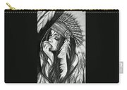 A Red Indian Girl Carry-all Pouch