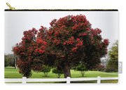 A Red Pin Under A Red Tree At Morro Bay Golf Course Carry-all Pouch