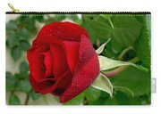 A Red Rose In The Dew Of Pearls Hours Carry-all Pouch