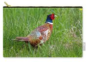 A Ring-necked Pheasant Walking In Tall Grass Carry-all Pouch
