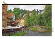 A Riverside Cafe Along The Vltava River In The Czech Republic Carry-all Pouch