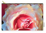 A Romantic Pink Rose Carry-all Pouch