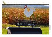 A Rooster Above A Mailbox 2 Carry-all Pouch