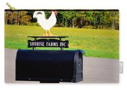 A Rooster Above A Mailbox 3 Carry-all Pouch