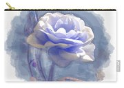 A Rose In Pastel Blue Carry-all Pouch