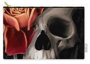 A Rose On The Skull Carry-all Pouch