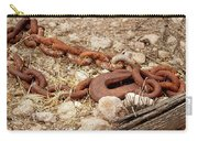 A Rusty Chain And Hook Carry-all Pouch