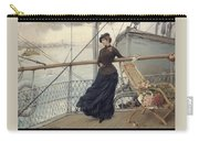 A Scottish Lady On A Boat Arriving In New York Henry Bacon Carry-all Pouch