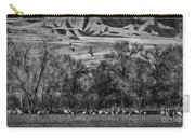 A Sedge Of Sandhill Cranes Carry-all Pouch