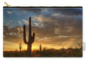 A Serene Sunset In The Sonoran Desert  Carry-all Pouch
