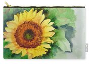 A Single Sunflower Carry-all Pouch