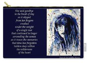 A Single Tear - Poetry In Art Carry-all Pouch