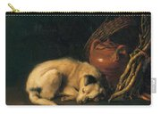 A Sleeping Dog With Terracotta Pot 1650 Carry-all Pouch