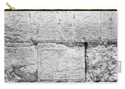 A Small Part Of The Wailing Wall In Black And White Carry-all Pouch