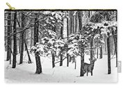 A Snowy Day Bw Carry-all Pouch