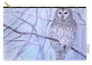 A Barred Owl Carry-all Pouch