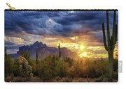 A Sonoran Desert Sunrise - Square Carry-all Pouch