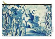 A South-german Faience Stove Tile Second Half 18th Century, By Adam Asar, No 18a Carry-all Pouch