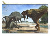 A Spinosaurus Blocks The Path Carry-all Pouch