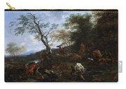 A Stag Hunt Nicolaes Claes Pietersz Berchem Carry-all Pouch