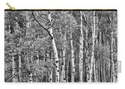A Stand Of Aspen Trees In Black And White Carry-all Pouch