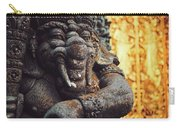 A Statue Of A Intricately Designed Holy Hindu Elephant Ganesha In A Sacred Temple In Bali, Indonesia Carry-all Pouch