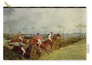 A Steeplechase - Taking A Hedge And Ditch  Carry-all Pouch by Henry Thomas Alken