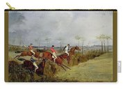 A Steeplechase - Taking A Hedge And Ditch Henry Thomas Alken Carry-all Pouch
