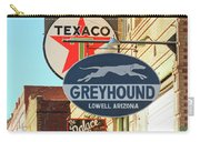 A Street Scene Of Vintage Signs, Lowell, Arizona Carry-all Pouch