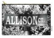 Al - A Street Sign Named Allison Carry-all Pouch