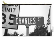 Ch - A Street Sign Named Charles Speed Limit 35 Carry-all Pouch
