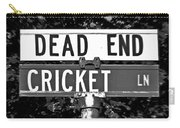 Cr - A Street Sign Named Cricket Carry-all Pouch