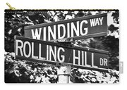 Wi - A Street Sign Named Winding Way And Rolling Hill Carry-all Pouch