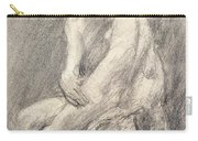 A Study Of Rodin's Kiss In His Studio Carry-all Pouch