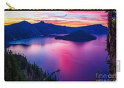 Crater Lake Sunset, Oregon Carry-all Pouch