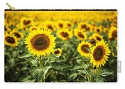 A Sunflower Plantation In Summer In South Dakota Carry-all Pouch
