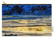 A Sunset In A River Of Ice Carry-all Pouch