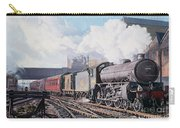 A 'thompson' B1 Class Moving Empty Stock On A Cold February Morning Carry-all Pouch by David Nolan