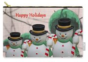 A Three Snowman Holiday Carry-all Pouch