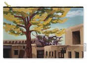 A Tree Grows In The Courtyard, Palace Of The Governors, Santa Fe, Nm Carry-all Pouch by Erin Fickert-Rowland