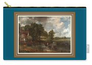 A Tribute To John Constable Catus 1 No. 1 -the Hay Wain L B With Alt. Decorative Ornate Frame. Carry-all Pouch