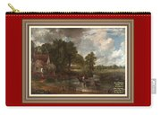 A Tribute To John Constable Catus 1 No.1 - The Hay Wain L A  With Alt. Decorative Ornate Printed Fr  Carry-all Pouch