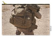 A U.s. Marine Pulls Security While Carry-all Pouch
