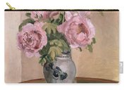A Vase Of Peonies Carry-all Pouch by Camille Pissarro