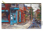 A Vendre Petits Formats L'art De Montreal Originals For Sale Wilensky's Diner Best Montreal Scenes Carry-all Pouch