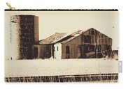 A Very Old Barn And Silo Carry-all Pouch