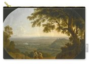 A View Across The Alban Hills With A Hilltop On The Right And The Sea In The Far Distance Carry-all Pouch
