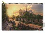 A View From Bridge Pont De L Archeveche, Archbishop Bridge, Infront Of Notre Dame De Paris Cathedr Carry-all Pouch