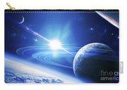 A View Of A Planet As It Looms In Close Carry-all Pouch by Kevin Lafin