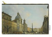 A View Of Piazza Navona With Elegantly Carry-all Pouch